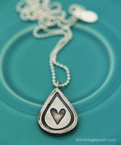 compassion water drop necklace web