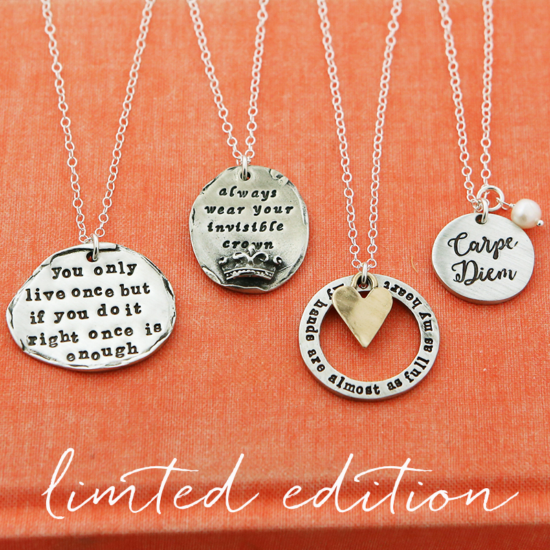 new inspirational necklaces custom handstamped inspirational quotes message necklaces are a great gift year around