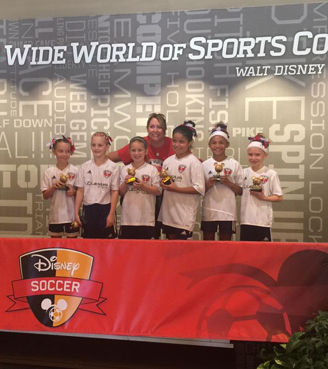 Won third place at the Wide World of Sports at Disney 3v3 soccer tournament