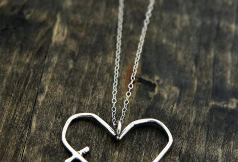 His word in my heart charm necklace, now in sterling silver (plus a giveaway!)