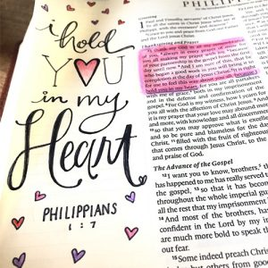 I hold you in my Heart! Bible Journaling