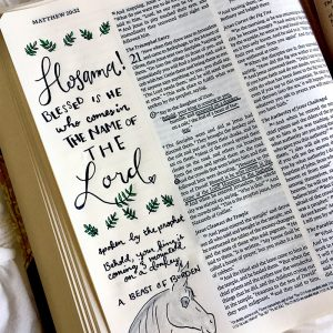 Bible Journaling + Palm Sunday