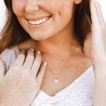 Dainty cross necklace available in sterling silver and gold-filled disc. Great gift for spouse, friend, daughter