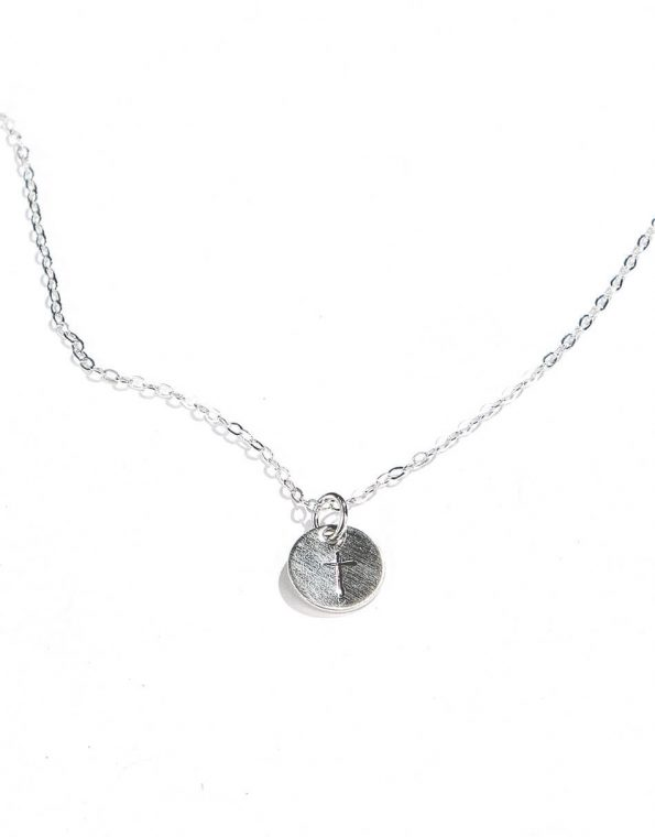Dainty Cross Necklace – Sterling Silver