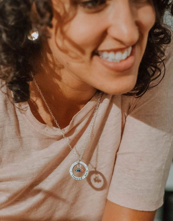 blessed-mom-with-birthstones-necklace-model