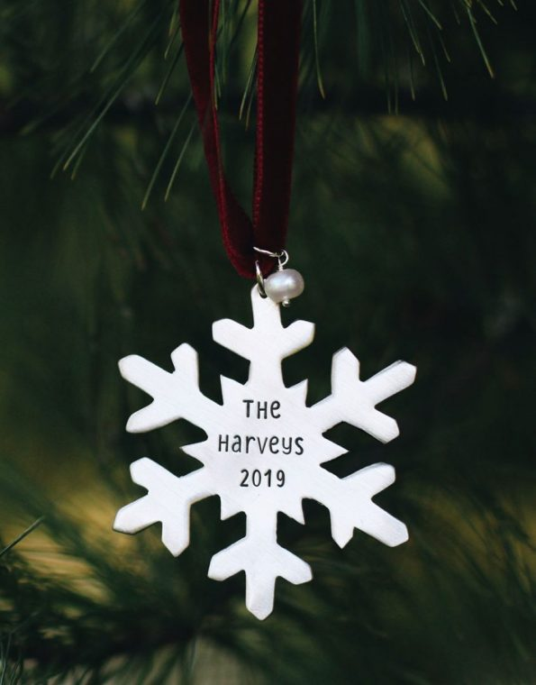 Classic snowflake ornament is a keepsake. Personalize it with the mesaage of your choice. Perfect gift for friend