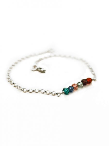 Custom birthstone bracelet. Beautiful gift for grandmothers with the birthstones of her grandchildren.