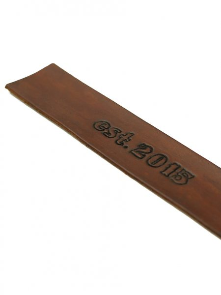 Perfect gift for avid readers. Hand stained and hand stamped leather bookmark with custom message