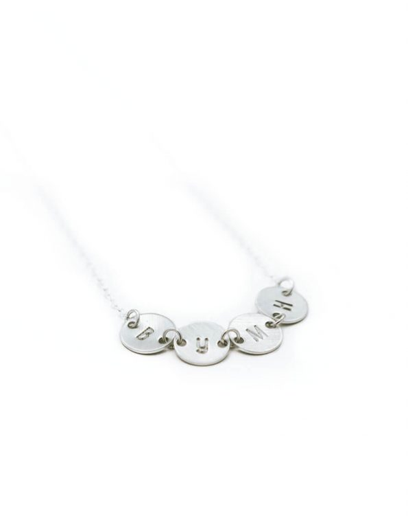 dainty-connected-initial-disk-necklace-silver-2