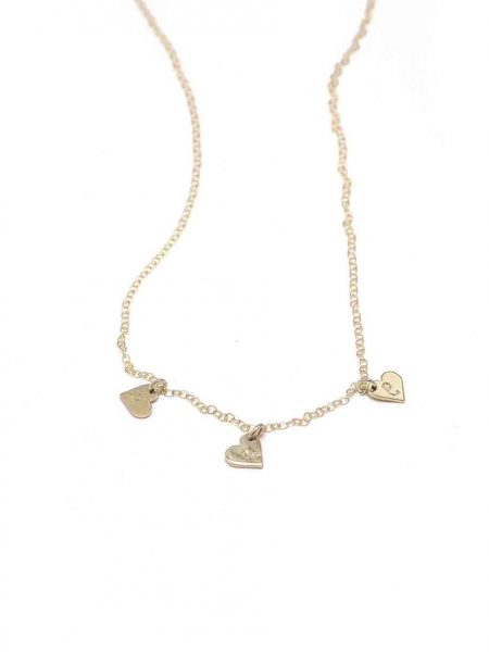A beautiful gold filled dainty chain adorned with gold plated sterling silver heart, engraved with initials. Perfect for girls of any age.