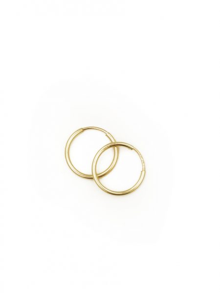 Beautiful endless gold-filled hoops are fun and perfect with any outfit. Best gift for your bestie, mother in law, boss