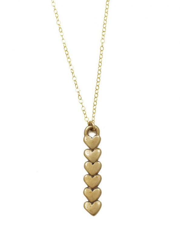 Golden Little Bits Of My Heart Necklace