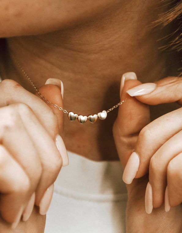golden-little-loves-necklace-model
