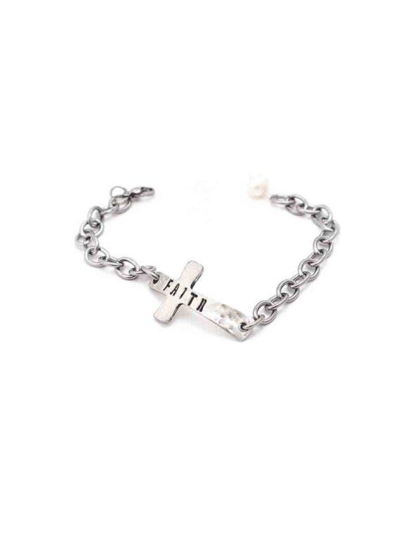 hammered-faith-charm-bracelet-2