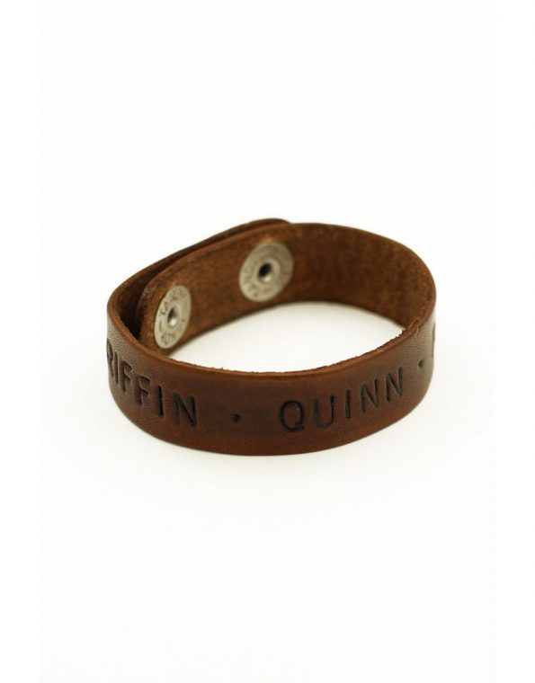 Thin leather cuffs hand stamped with message. Perfect gift for dad, husband, brother, friend