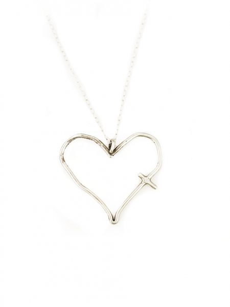 Silver charm faith necklace - His word in my heart. Perfect gift for moms, sisters, wife, grandmas