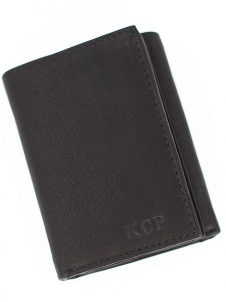 Leather wallet with the name engraved on it. Perfect gift for father, brother, husband or friend.