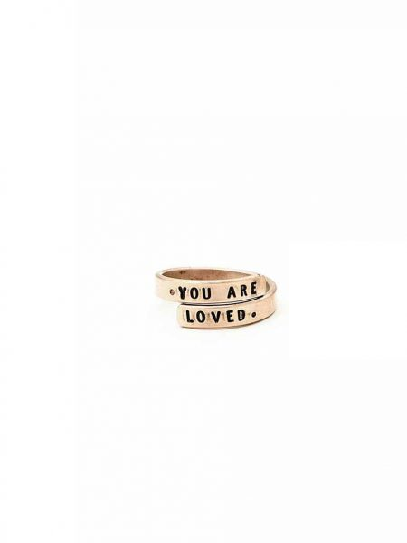 Golden mini wrap ring made with gold filled wire. Get a message, name or date engraved on it. Perfect for wife, sister, friend