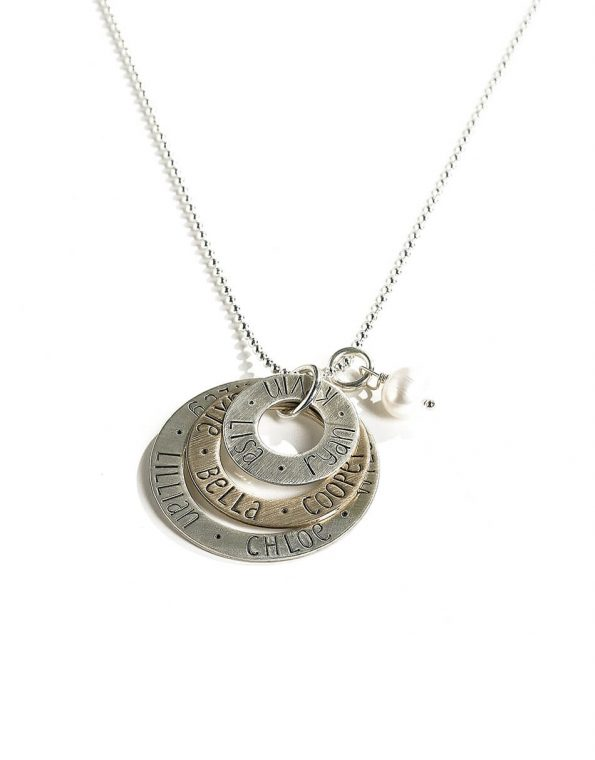 mixed-metal-layered-eternity-circle-necklace-2