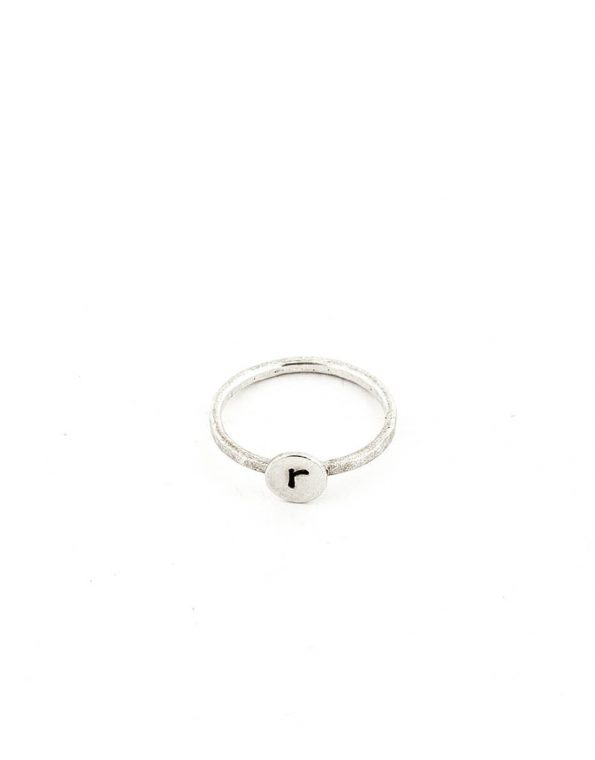 personalized-custom-initial-dot-ring-silver