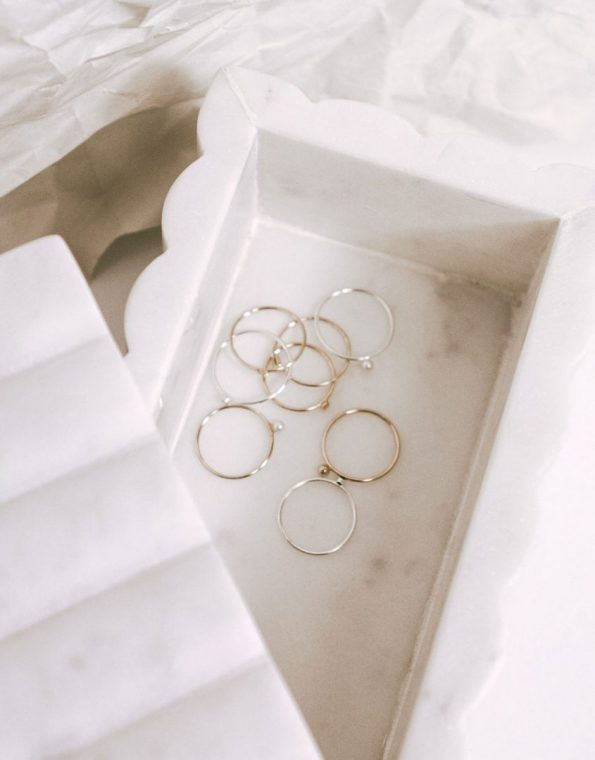 Stacking Dainty Gold Ball Ring