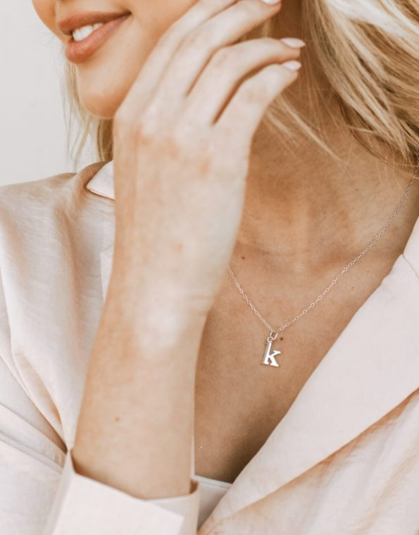 sterling-lowercase-typewriter-initial-necklace-model-2