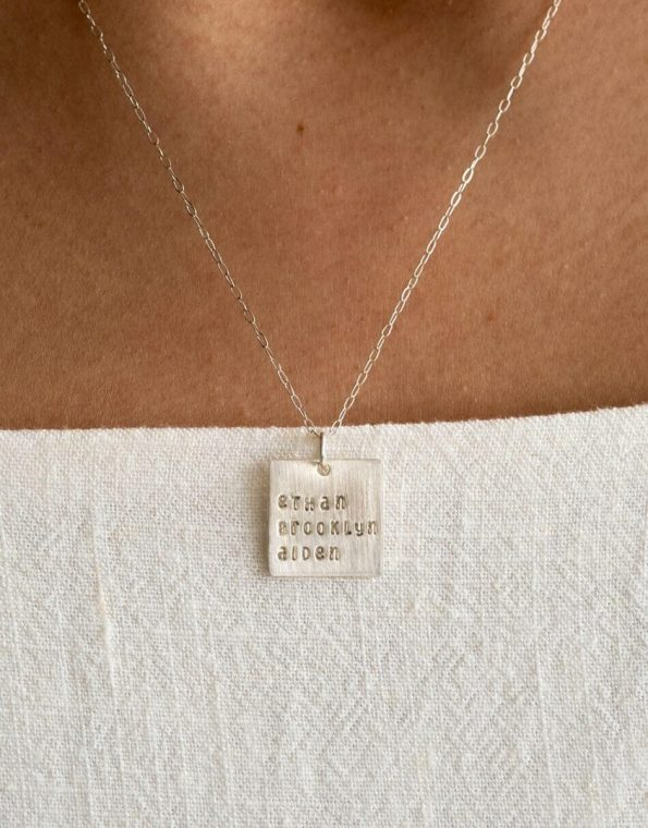 sterling-silversquare-names-on-a-chain-model